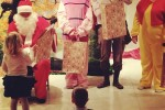 A gyerekek találkozhattak a Mikulással.